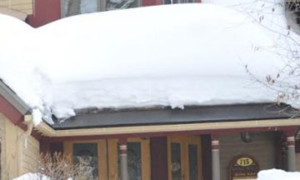 melt snow and ice on the roof edge, add snow guard system, no falling snow and ice