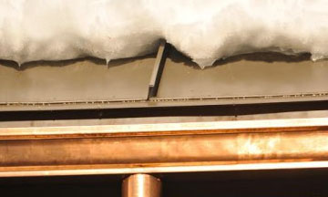 HotDrip Roof Ice Melt System is not a zig zag heat cable system, but keeps ice from forming on the roof gutters