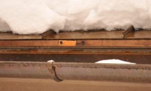 Prevent Ice dams on roof edge with and Ice melt system, HotEdge Rail Roof Ice Melt System