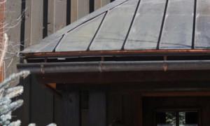 HotEdge heat tape melting snow on roof edge, no ice dams, HotEdge Rail Roof Ice Melt System