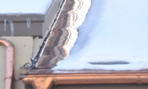Copper ice melt system on metal, shingle or slate roof