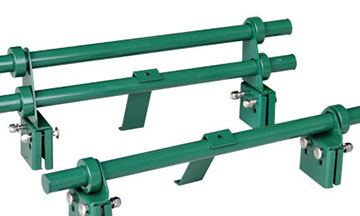 3 bar snow rail, pipe style snow guard, deck mount triple rail snow fence for metal roof, snow rail